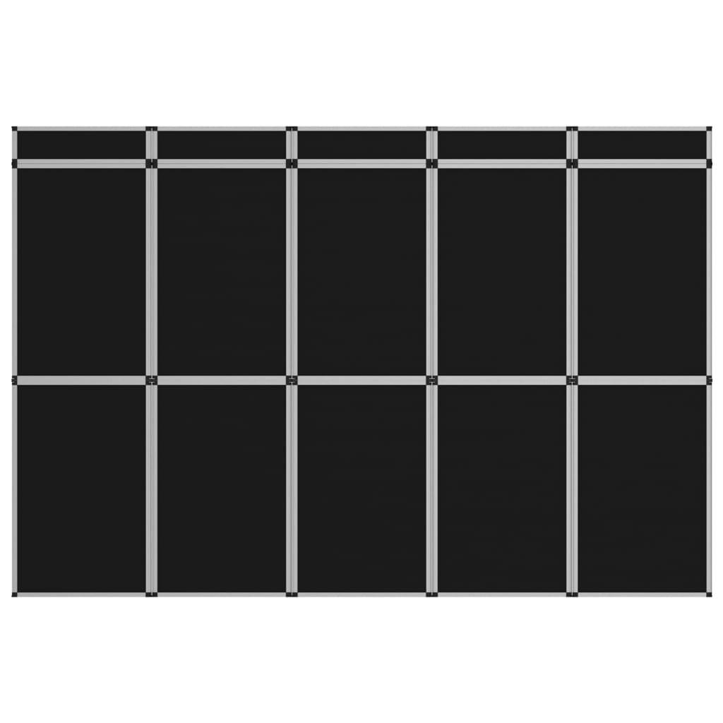 Promotiewand met 15 panelen inklapbaar 302x200 cm zwart