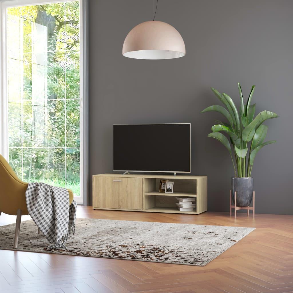 Tv-meubel 120x34x37 cm spaanplaat sonoma eikenkleurig