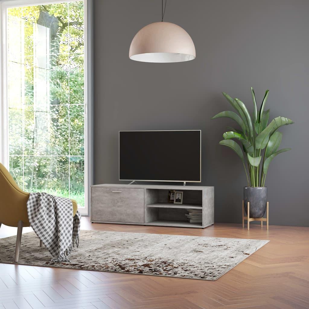 Tv-meubel 120x34x37 cm spaanplaat betongrijs