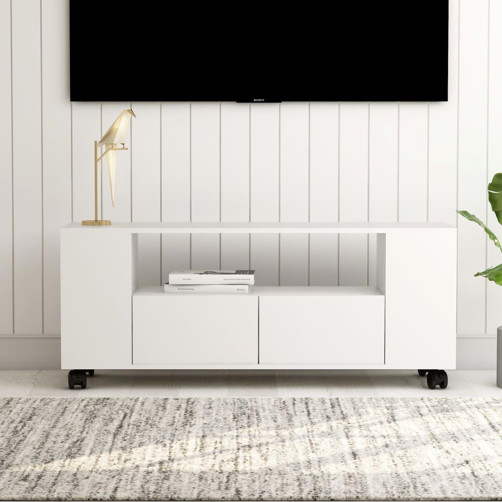 Tv-meubel 120x35x43 cm spaanplaat wit