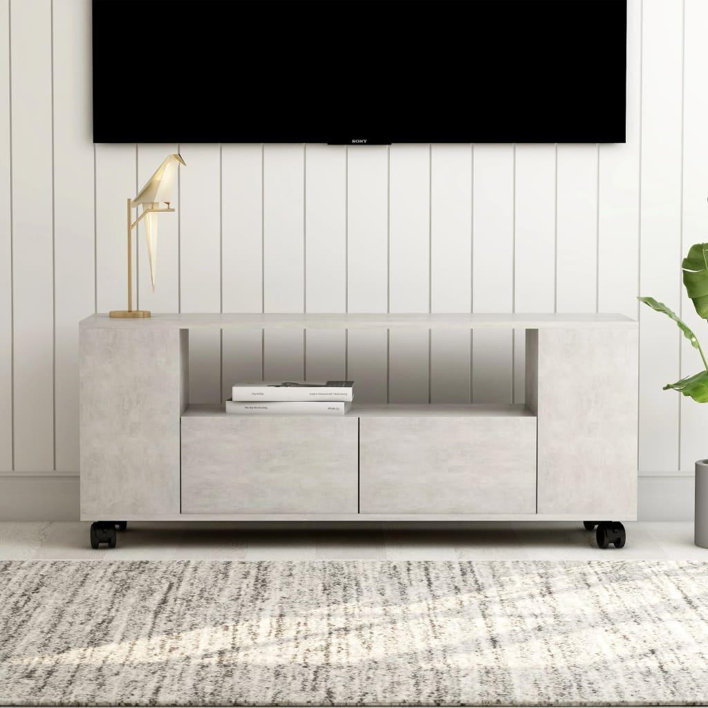 Tv-meubel 120x35x43 cm spaanplaat betongrijs