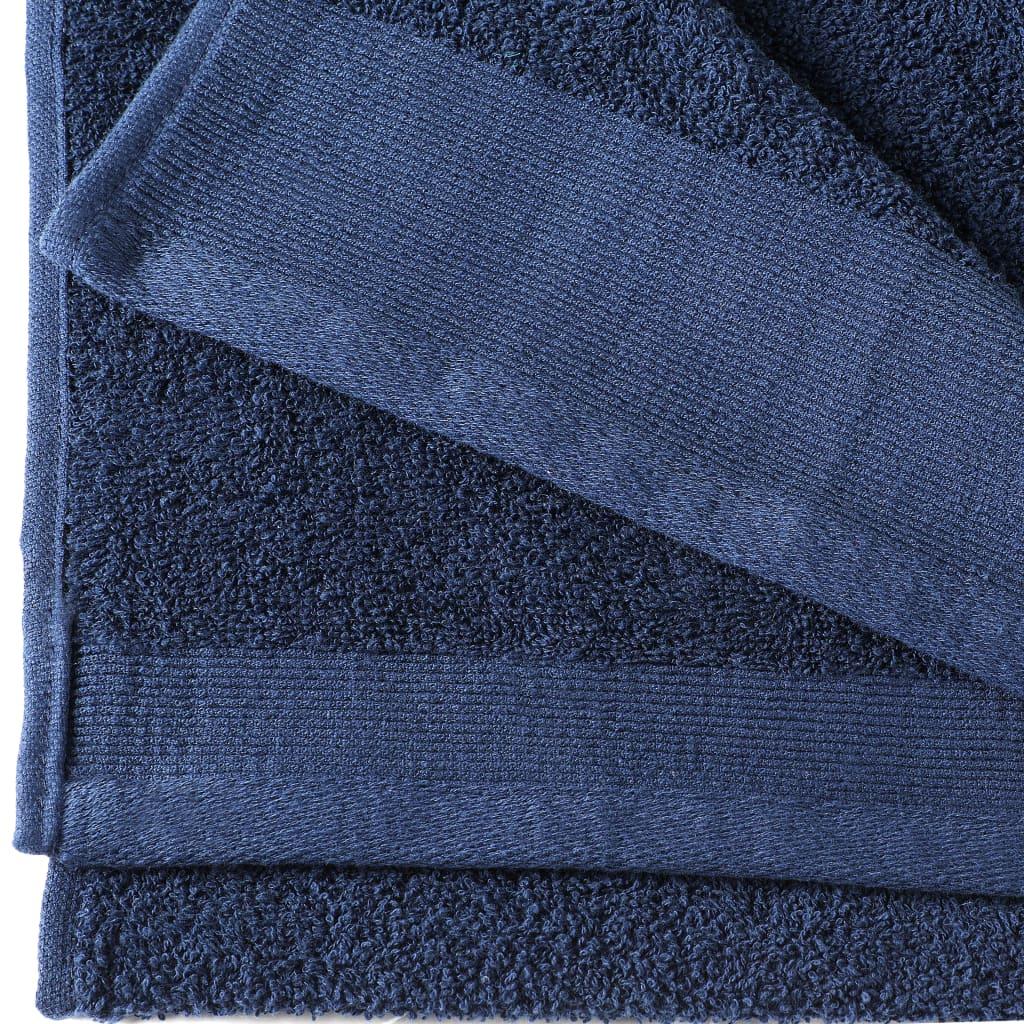 Handdoeken 5 st 450 g/m 50x100 cm katoen marineblauw