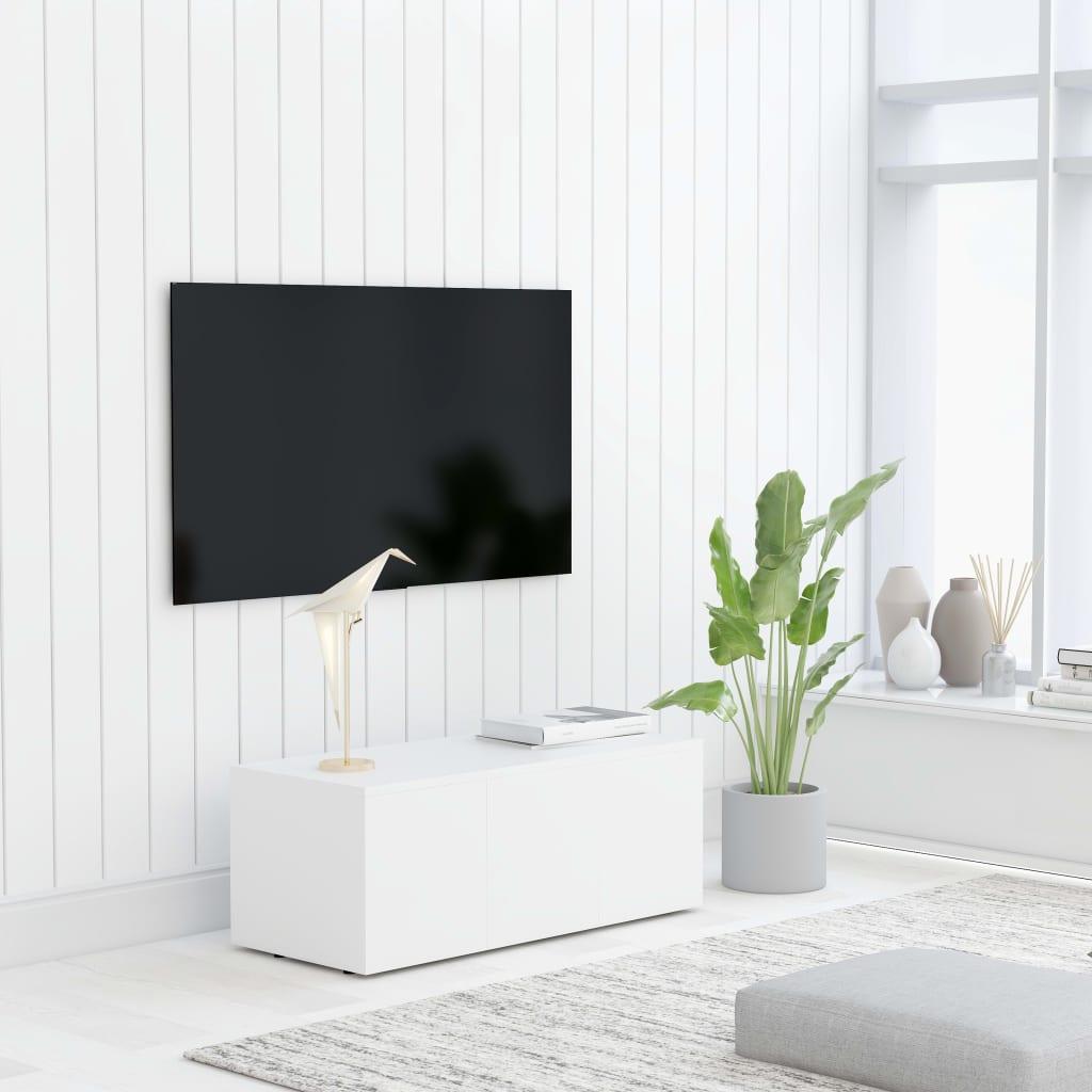 Tv-meubel 80x34x30 cm spaanplaat wit