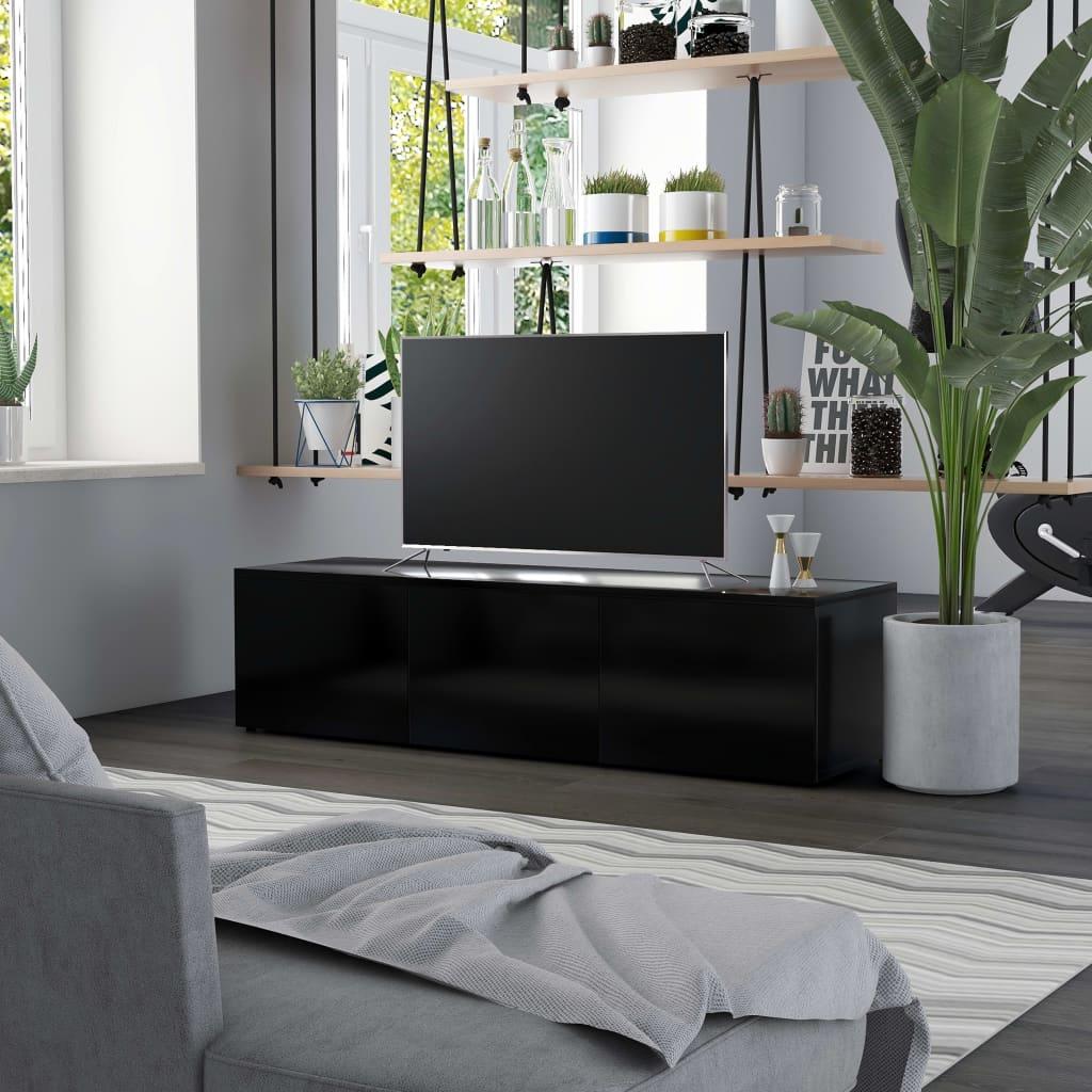 Tv-meubel 120x34x30 cm spaanplaat zwart