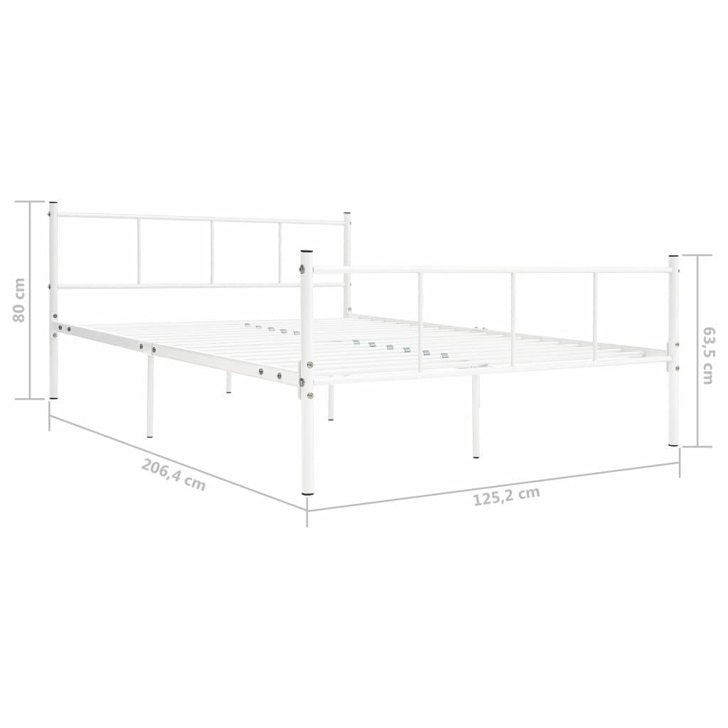 Bedframe metaal wit 120x200 cm