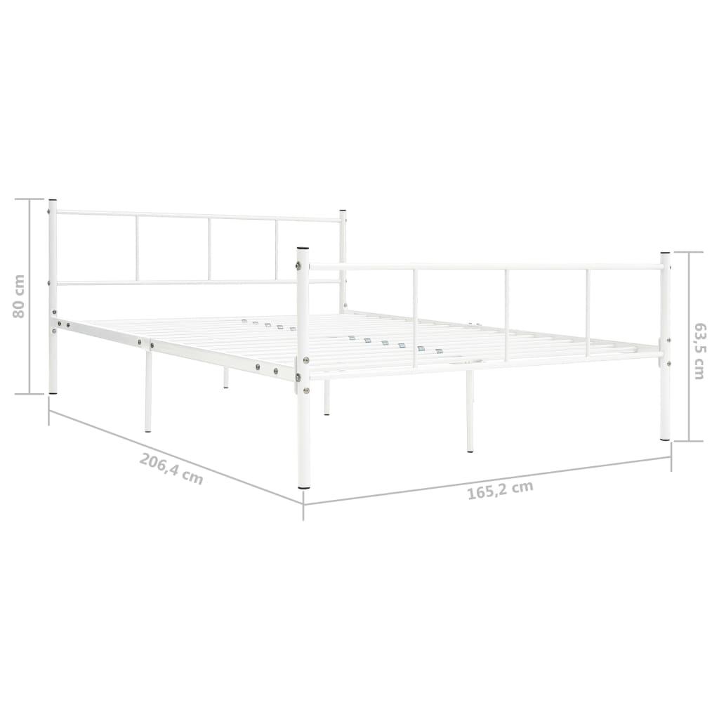 Bedframe metaal wit 160x200 cm