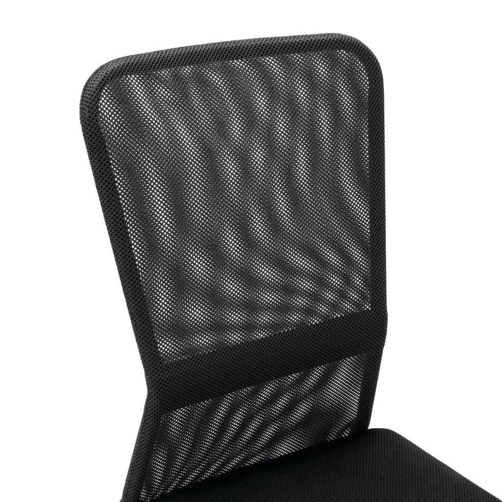 VidaXL Kantoorstoel 44x52x100 cm mesh stof zwart