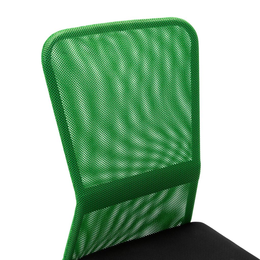VidaXL Kantoorstoel 44x52x100 cm mesh stof zwart en groen