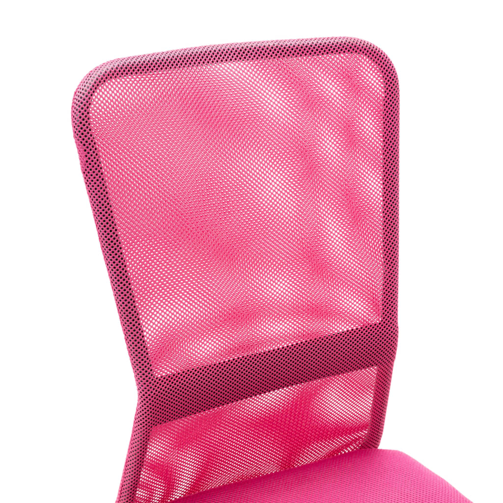 VidaXL Kantoorstoel 44x52x100 cm mesh stof roze