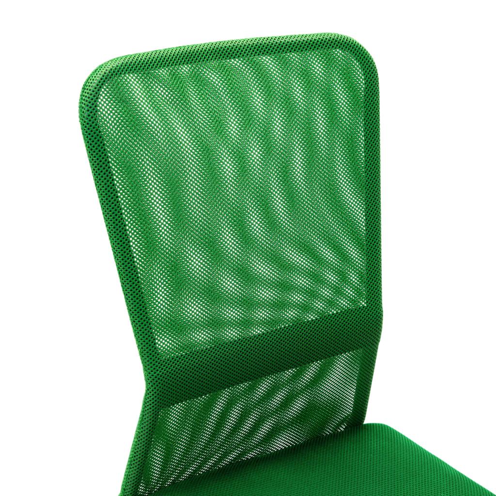 VidaXL Kantoorstoel 44x52x100 cm mesh stof groen