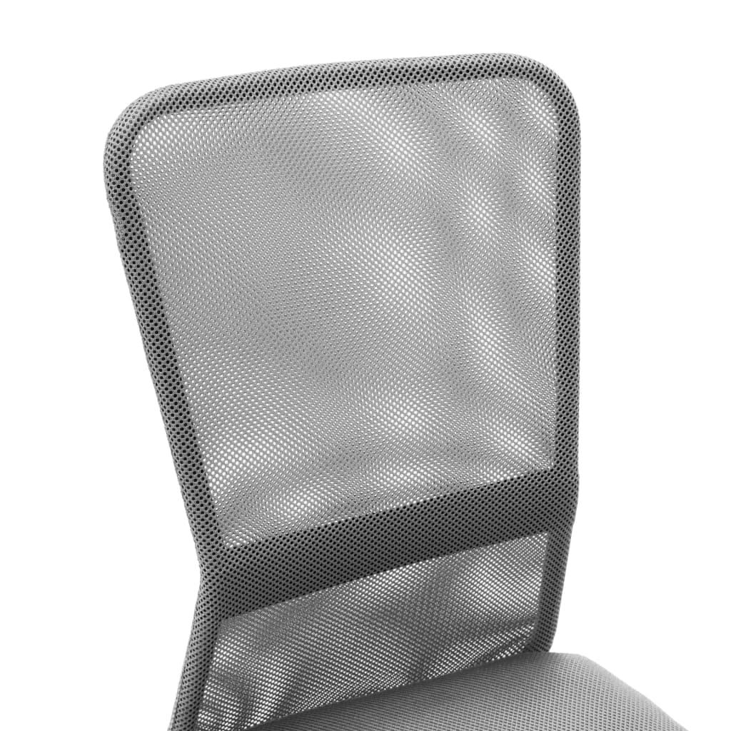 VidaXL Kantoorstoel 44x52x100 cm mesh stof grijs