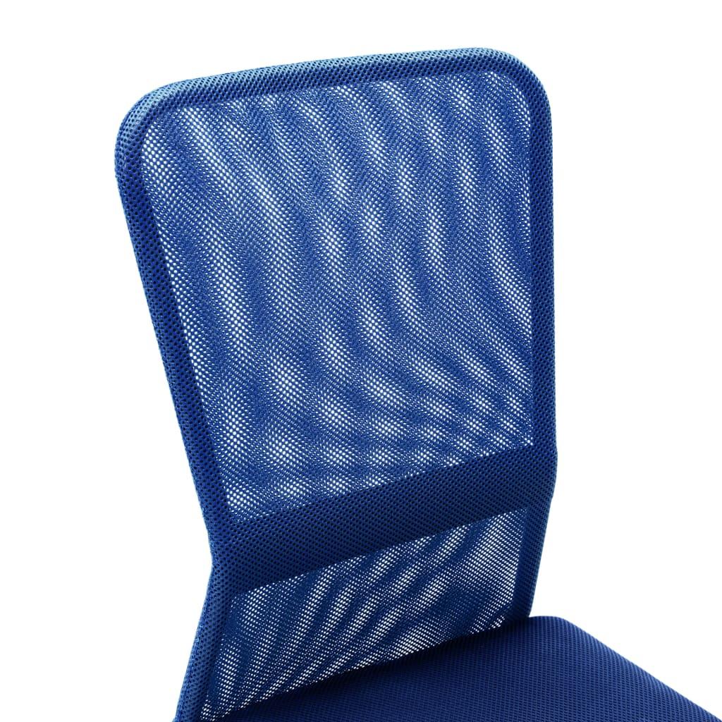VidaXL Kantoorstoel 44x52x100 cm mesh stof blauw