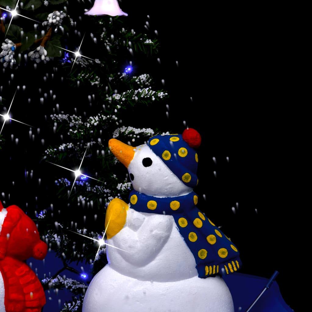 Kerstboom sneeuwend met paraplubasis 75 cm PVC blauw