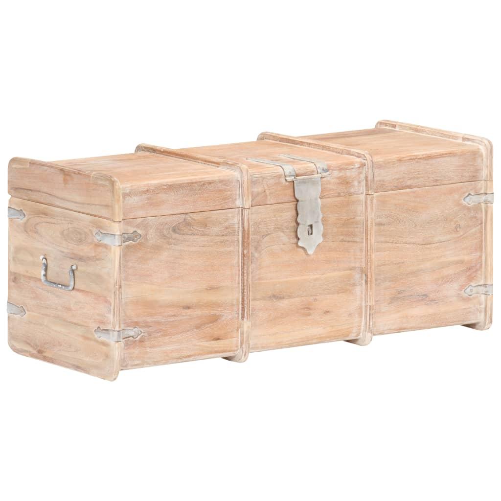 Opbergkist 90x40x40 cm massief acaciahout