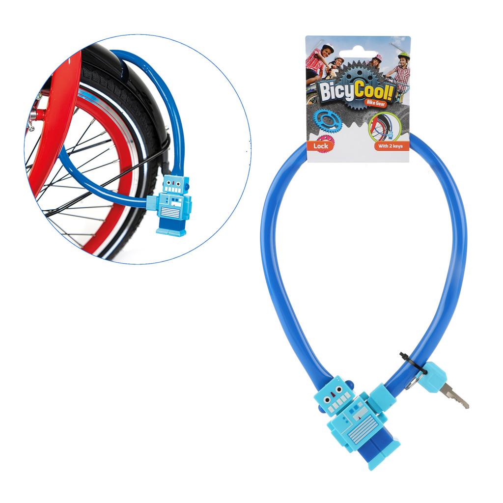 BicyCool Robot Fietsslot + 2 Sleutels Blauw
