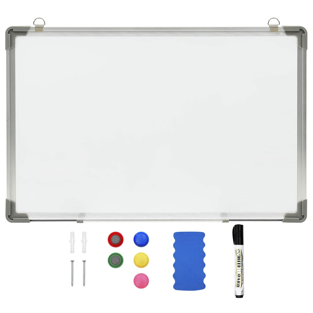 Whiteboard magnetisch 50x35 cm staal wit
