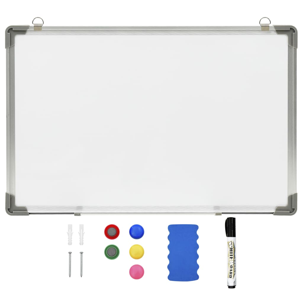 Whiteboard magnetisch 60x40 cm staal wit
