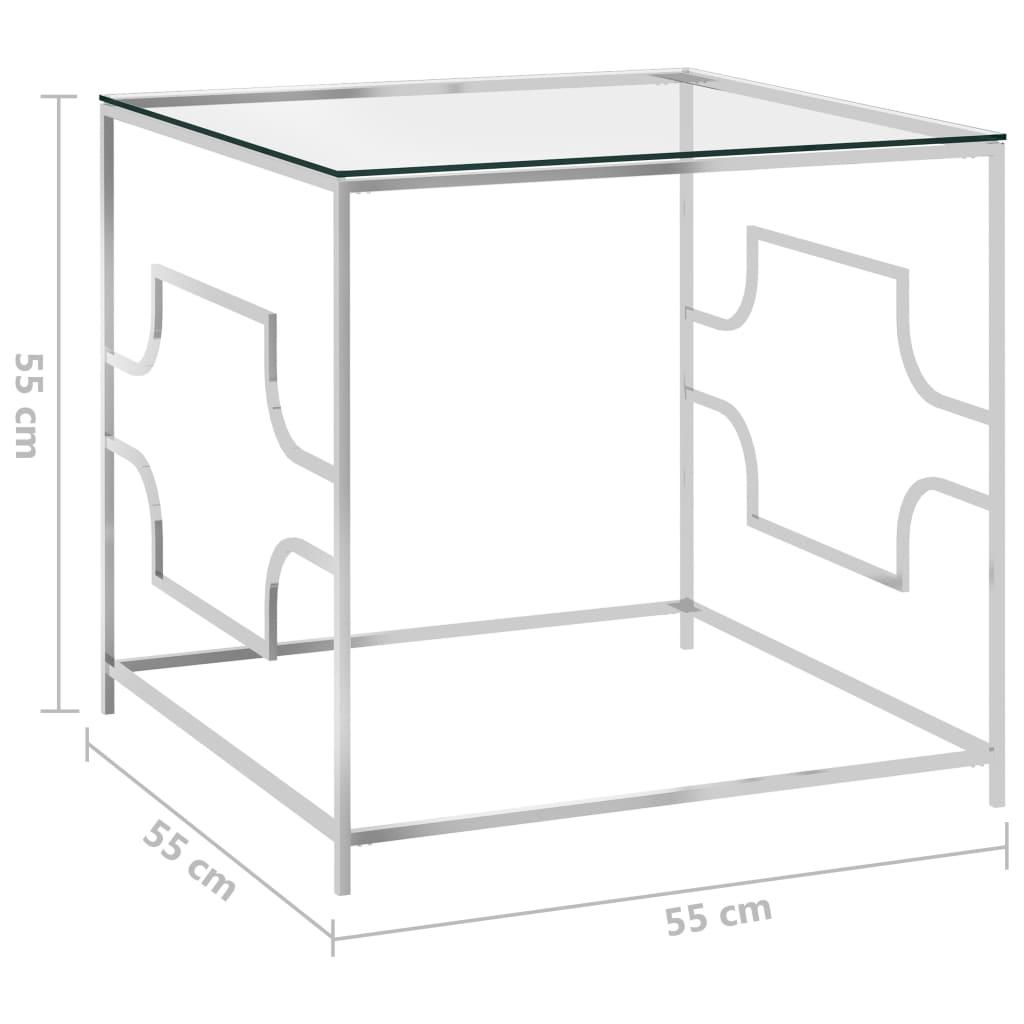 Salontafel 55x55x55 cm roestvrij staal