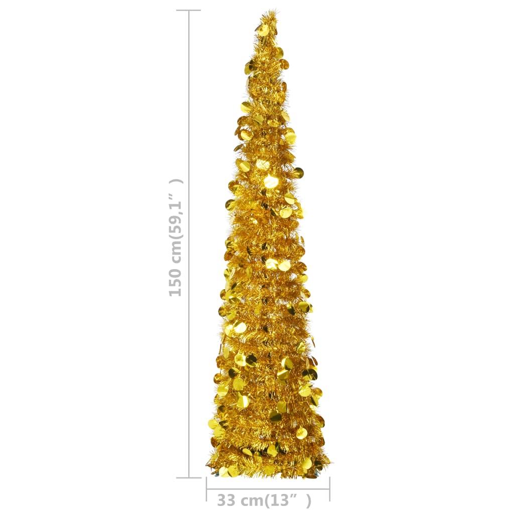 Kunstkerstboom pop-up 150 cm PET goudkleurig
