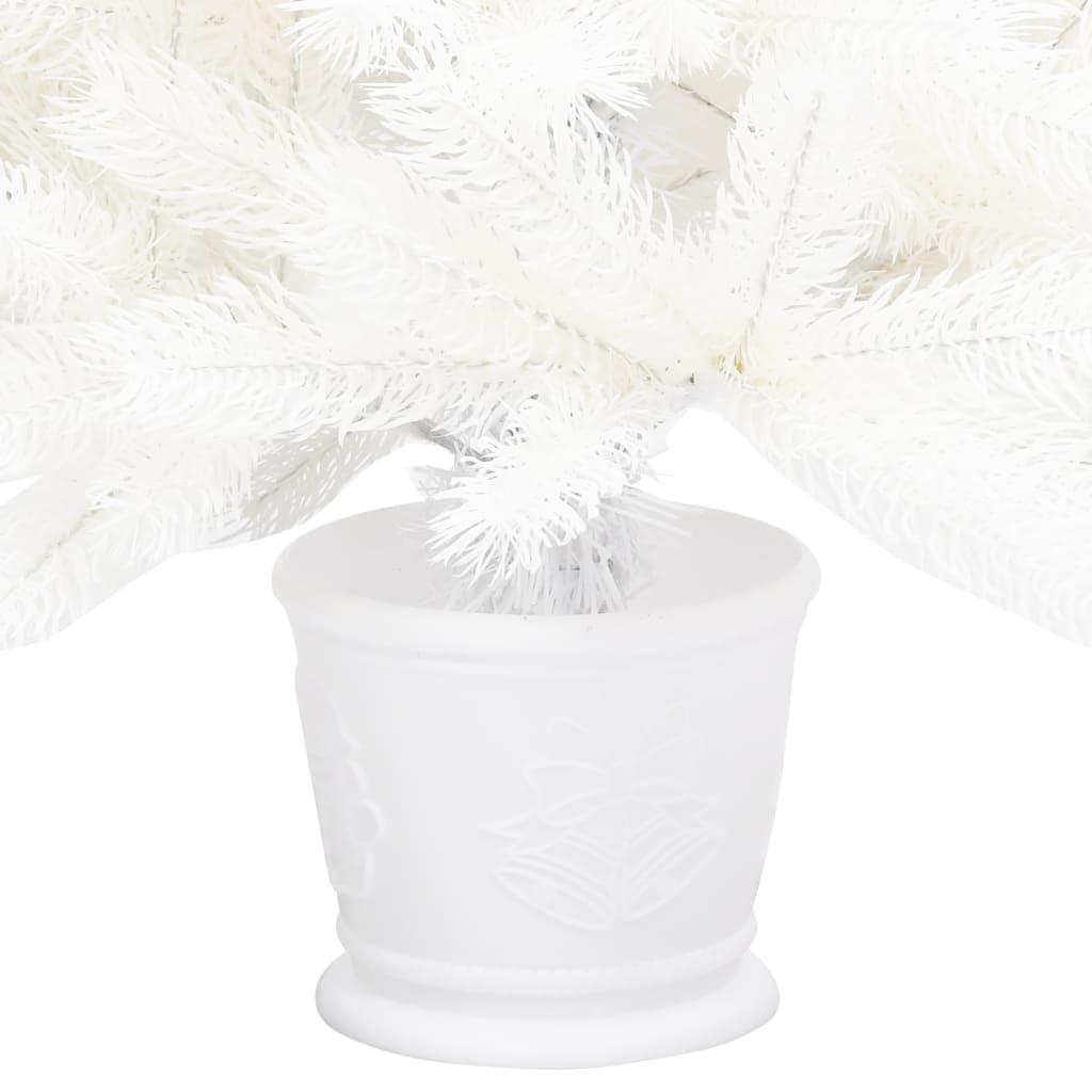 Kunstkerstboom met pot 90 cm PE wit
