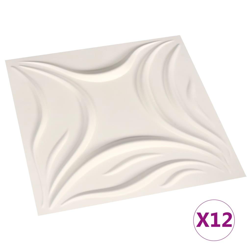 12 st Wandpanelen 3D 3 m 0,5x0,5 m