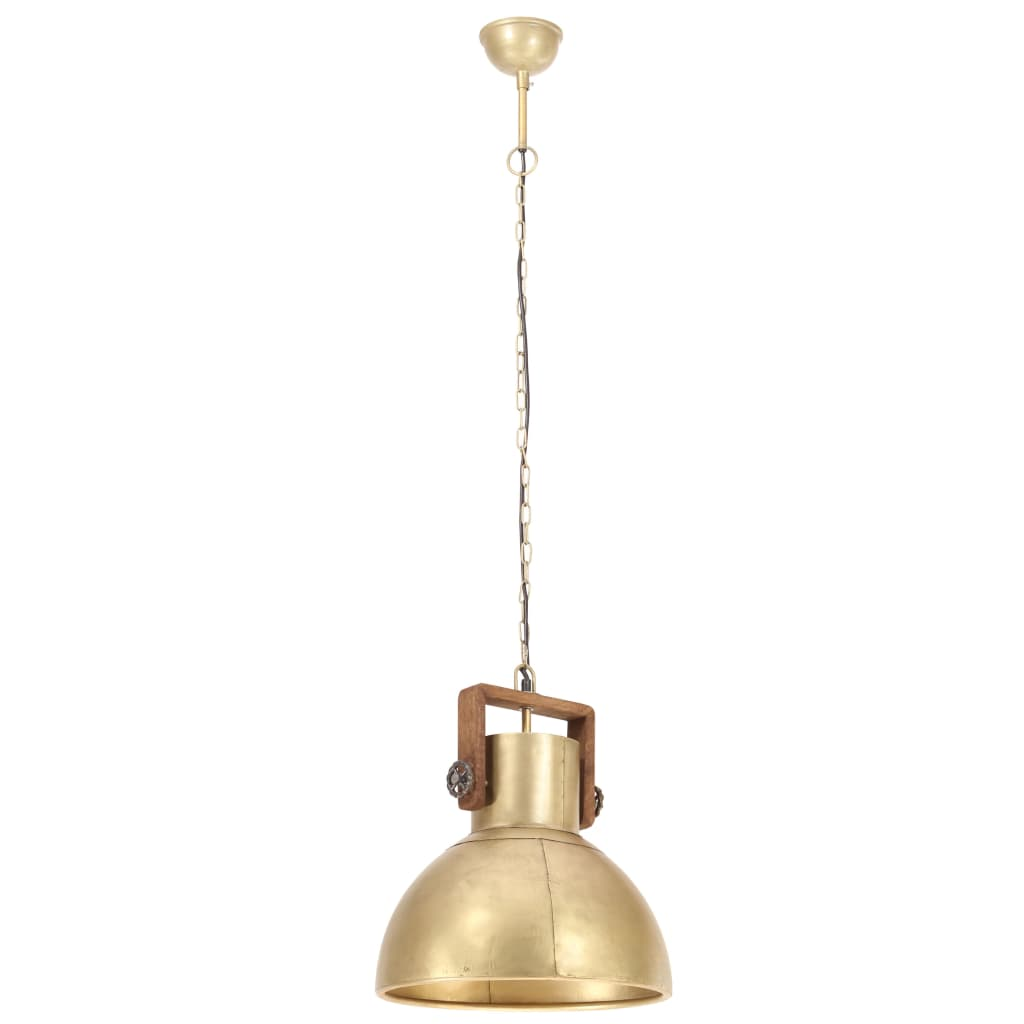 Hanglamp industrieel rond 25 W E27 40 cm messingkleurig