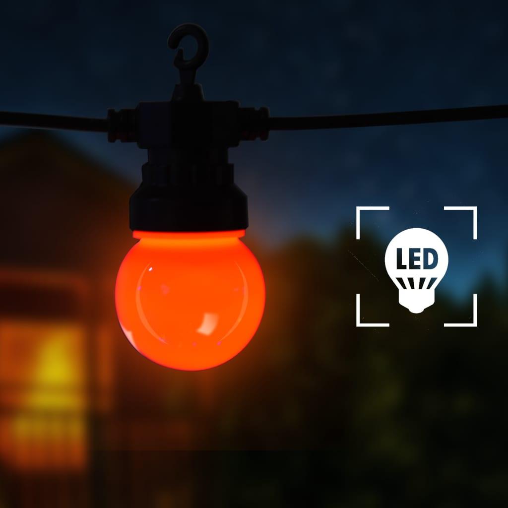 Lichtsnoer met 20 lampen rond 23 m