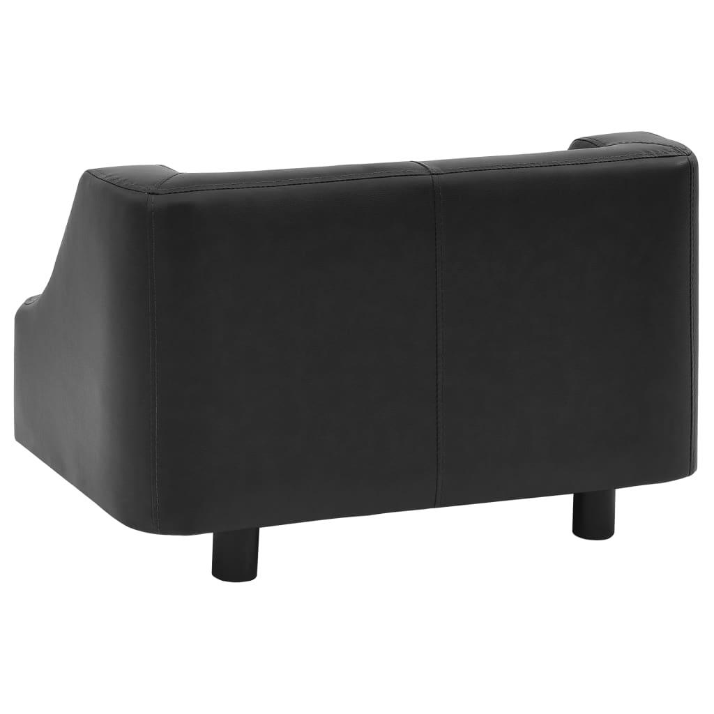 Hondenbank 67x52x40 cm kunstleer zwart