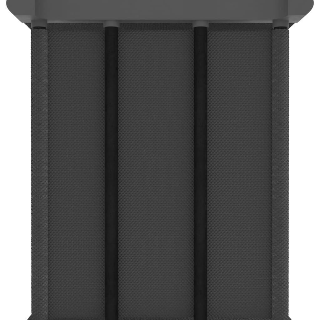 Kast met 15 vakken 103x30x175,5 cm stof grijs