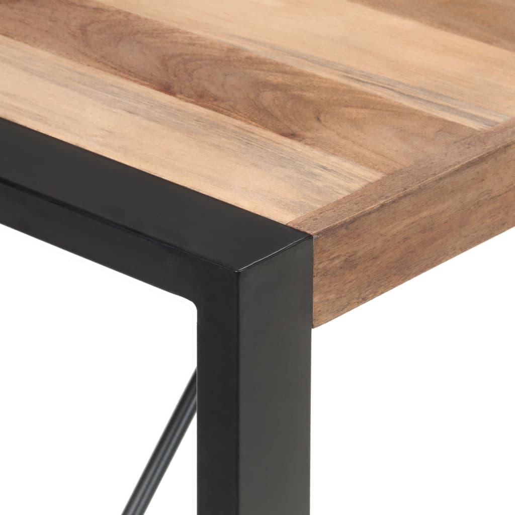 Eettafel 140x70x75 cm massief hout met sheesham afwerking