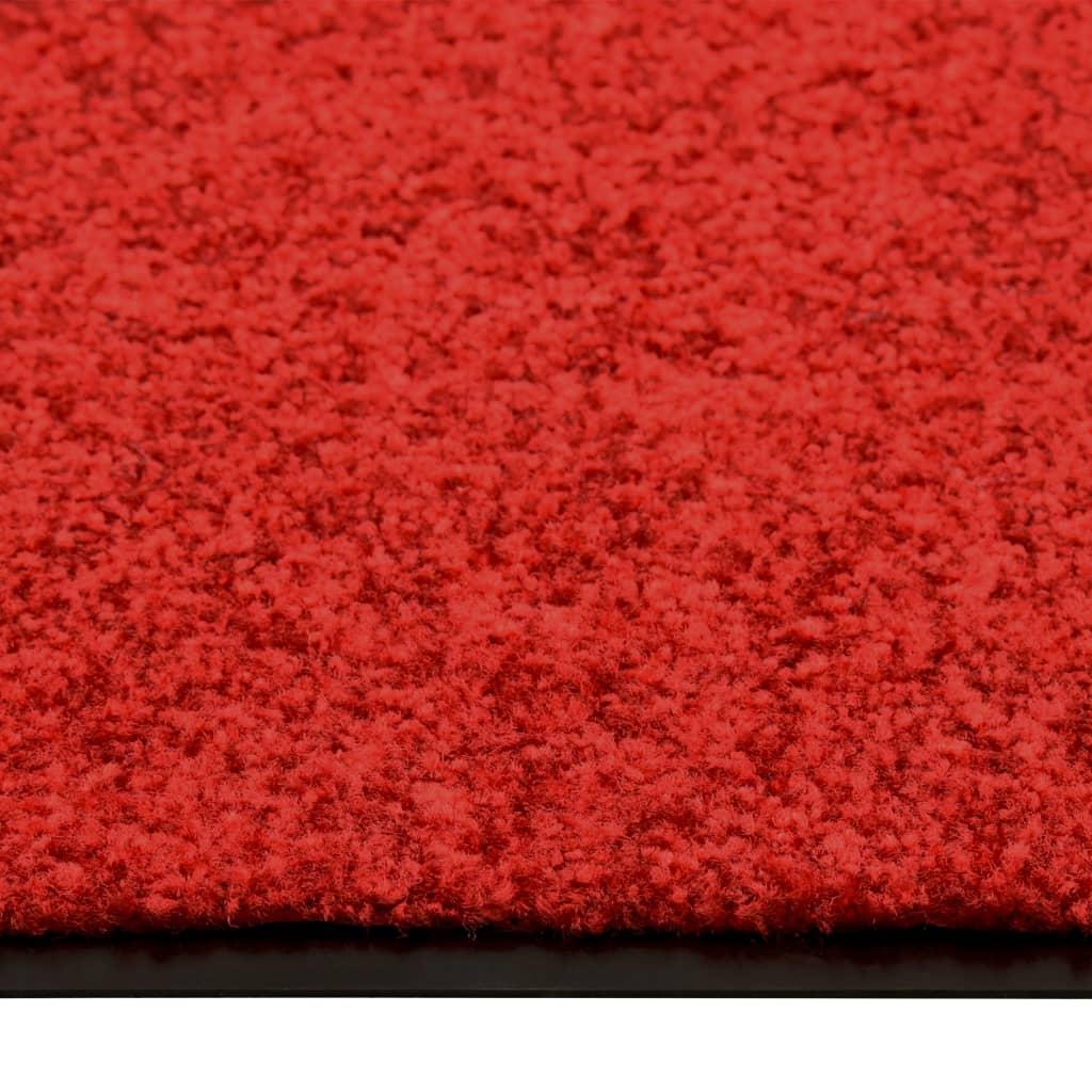 Deurmat wasbaar 60x180 cm rood