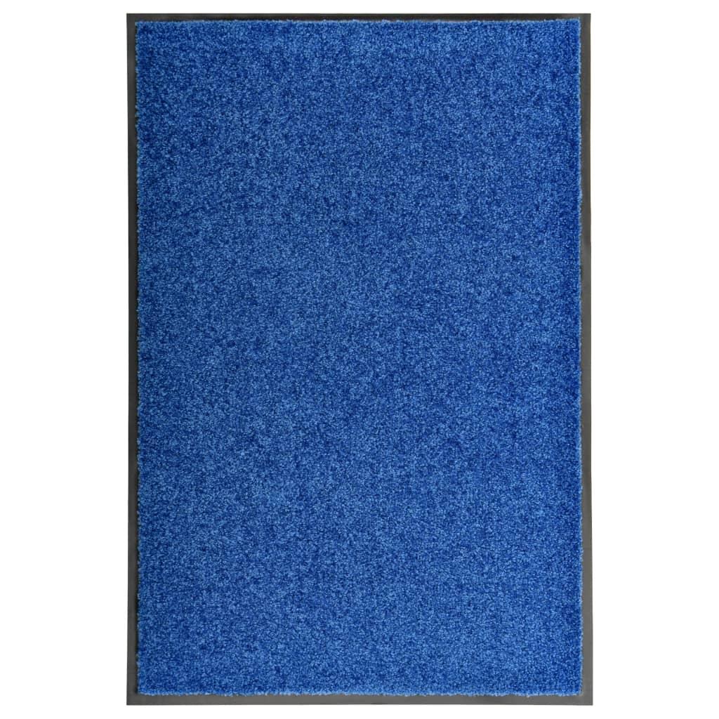 Deurmat wasbaar 60x90 cm blauw