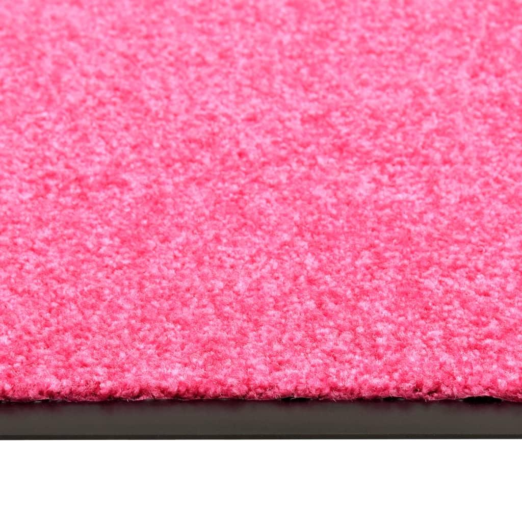 Deurmat wasbaar 40x60 cm roze