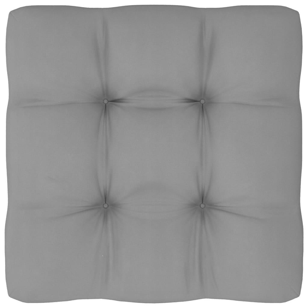 Bankkussen pallet 60x60x12 cm grijs