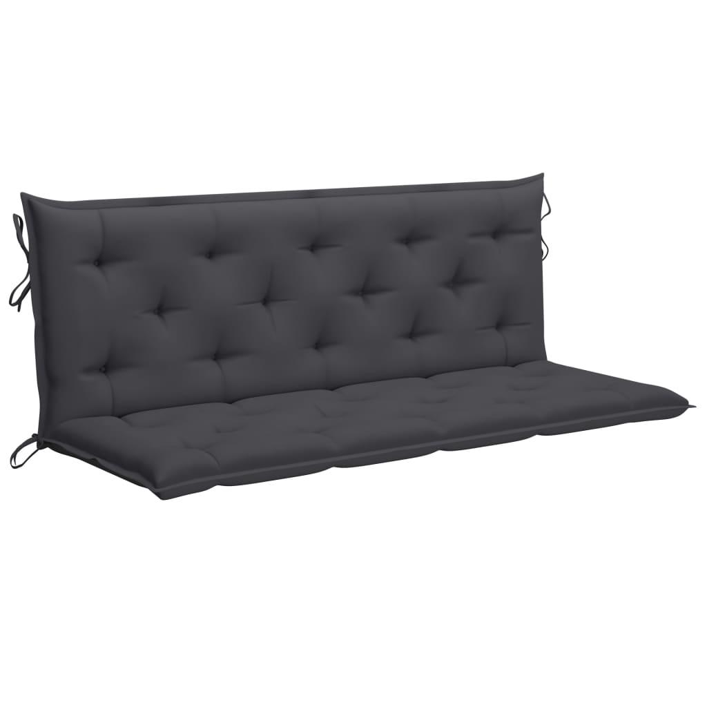 Kussen voor schommelstoel 150 cm stof antracietkleurig