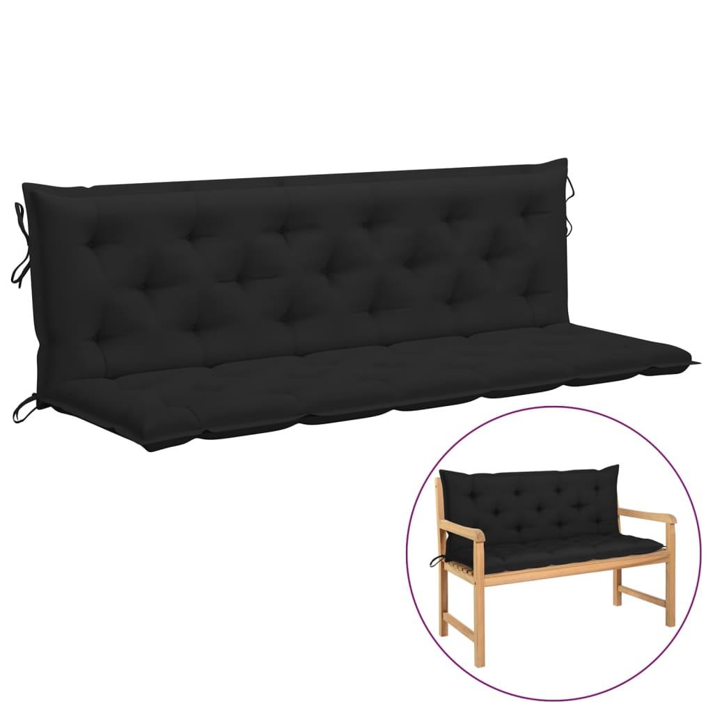 Kussen voor schommelstoel 180 cm stof zwart