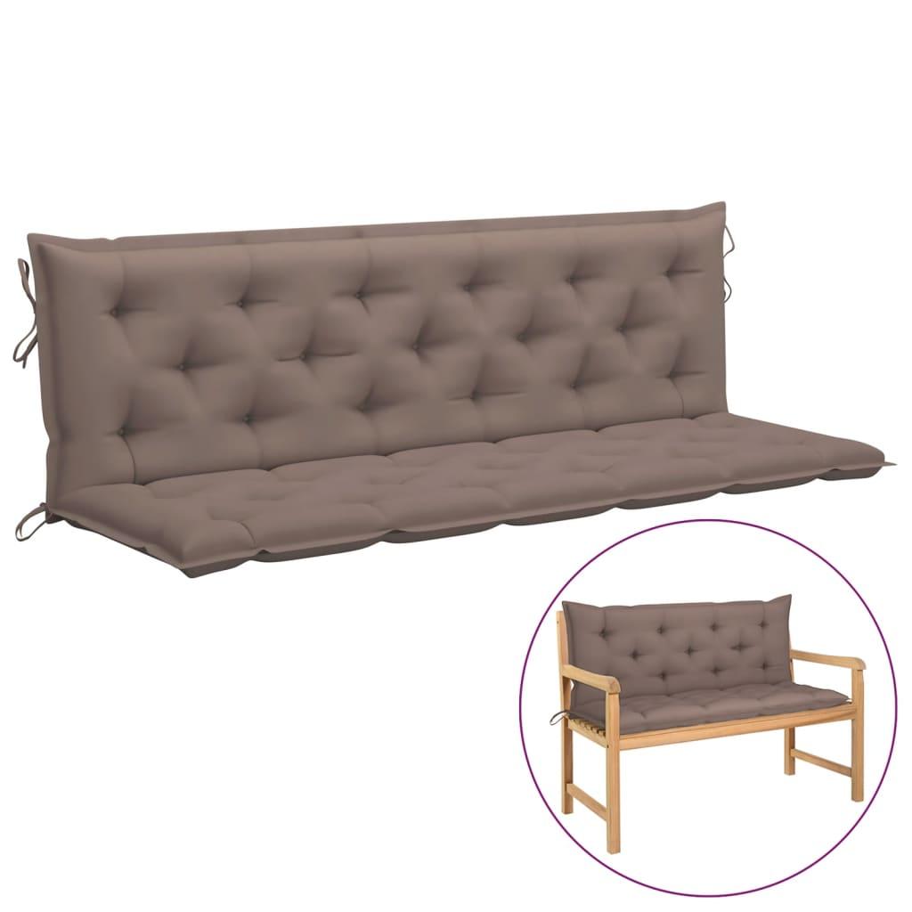 Kussen voor schommelstoel 180 cm stof taupe