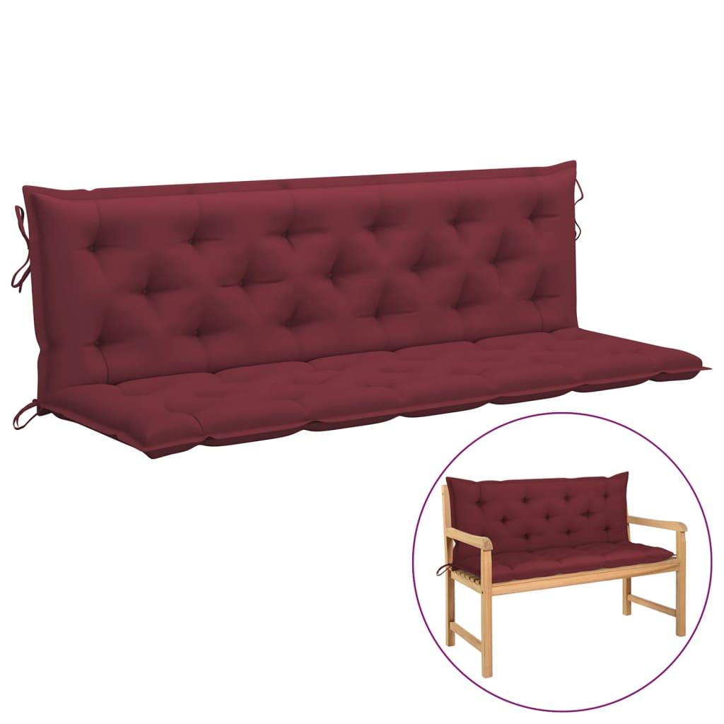 Kussen voor schommelstoel 180 cm stof wijnrood