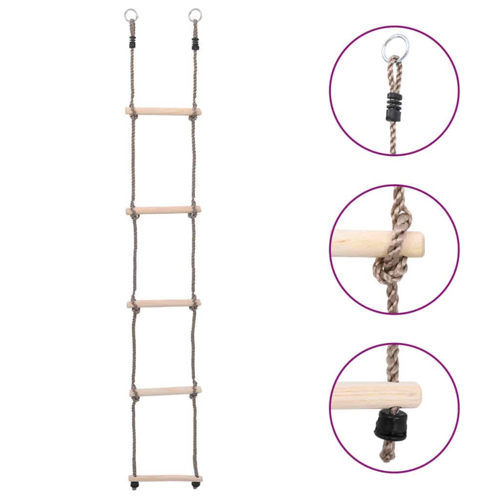 Ladder met 5 sporten 210 cm massief grenenhout