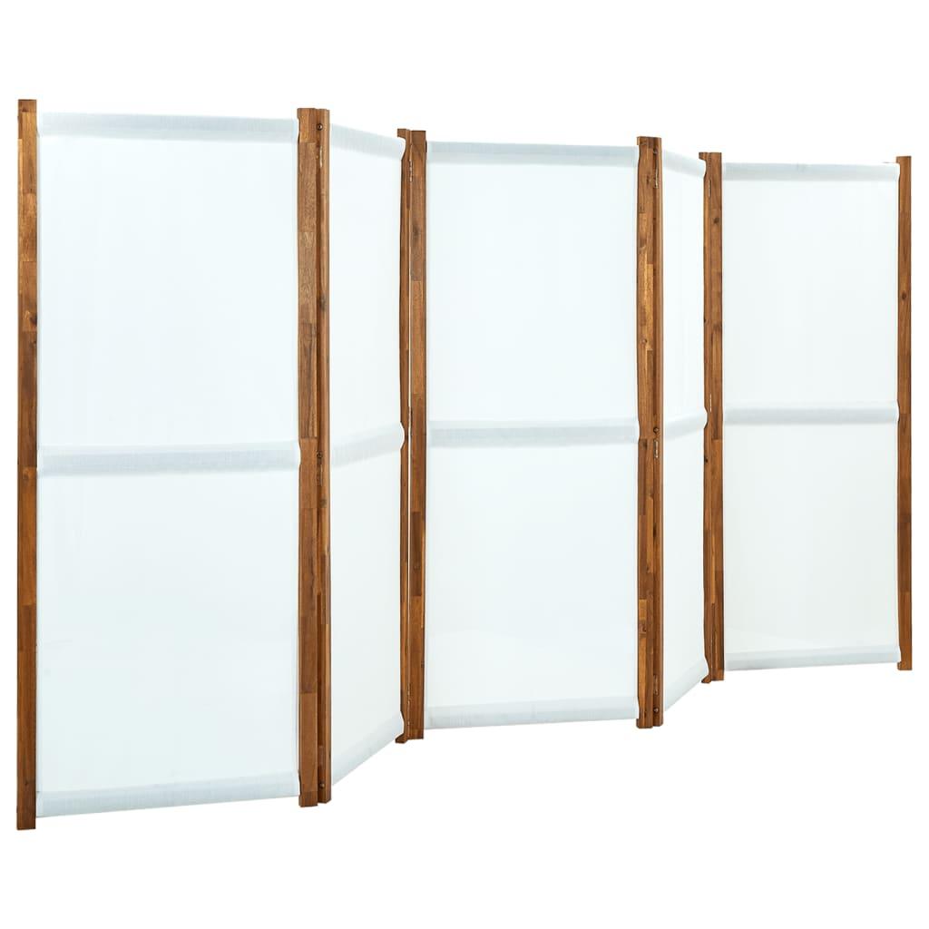Kamerscherm met 5 panelen 350x170 cm crmewit