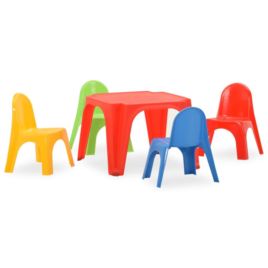 Kindertafel en stoelenset PP