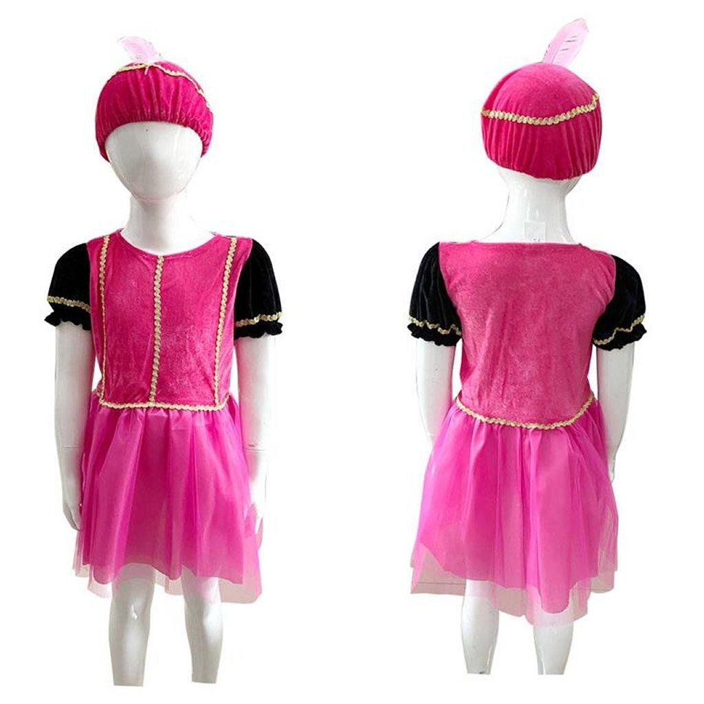 Verkleedset Pietenjurk Roze Paars 3-5 Jaar