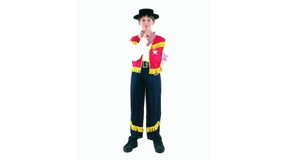 Clown Kinderkostuum Cowboy 7-9 jaar