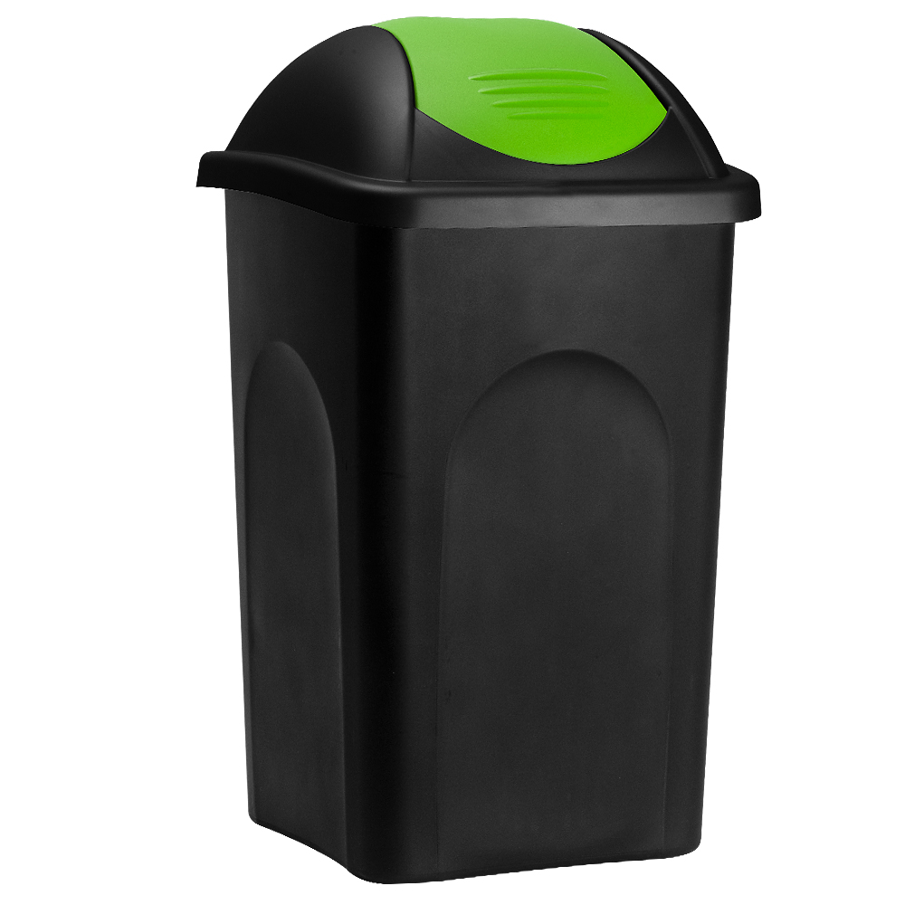 Deuba Afvalbak zwart/groen 60 liter