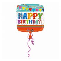 Anagram Folie Ballon Happy Birthday 43x43 cm