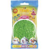 Hama Strijkkralen 1000 Stuks Groen Neon