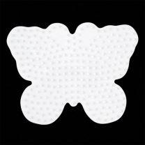 Hama Strijkkralen Grondplaat Vlinder Wit