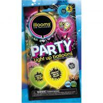 Illooms Happy New Year Ballonnen met LED Licht 5 stuks