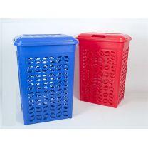 Wasmand kunststof kleur rood , inhoud 100 liter