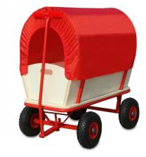 Bolderkar Bagagewagen rood/wit